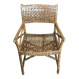 Vintage Mid Century Rattan Chairs- a Pair For Sale