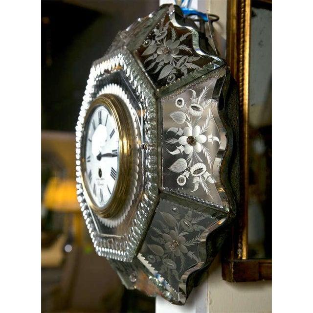 Venetian Glass Mirrored Clock - Image 6 of 7