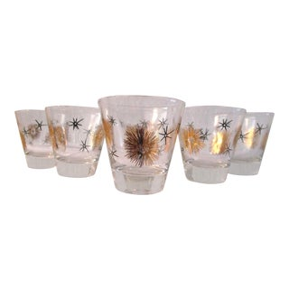 Mid-Century Atomic Design Whiskey Glasses, Set of Six For Sale