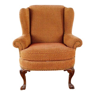 Sherrill Furniture Upholstered Wing Chair For Sale