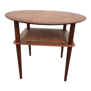 Peter Hvidt and Orla Molgaard Nielsen for France Daverkosen Teak Side Table For Sale