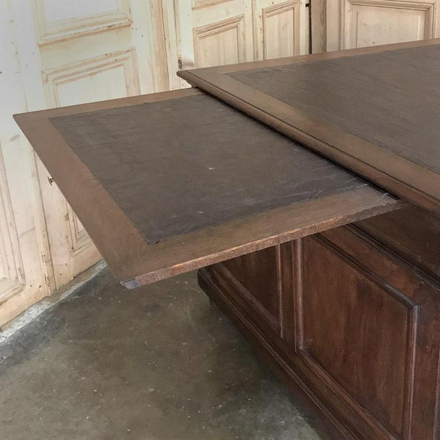 Late 19th Century 19th Century French Henri II Walnut Partner's Desk For Sale - Image 5 of 13
