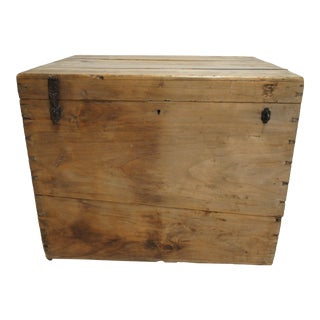 19th Century Primitive Dovetail Trunk Storage Chest
