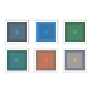 Color Study Framed Set #1, Colorful Geometric Prints - Set of 6 For Sale