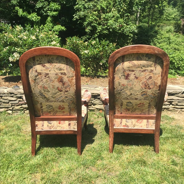 Vintage Victorian High Back Parlor Chairs - A Pair - Image 8 of 11
