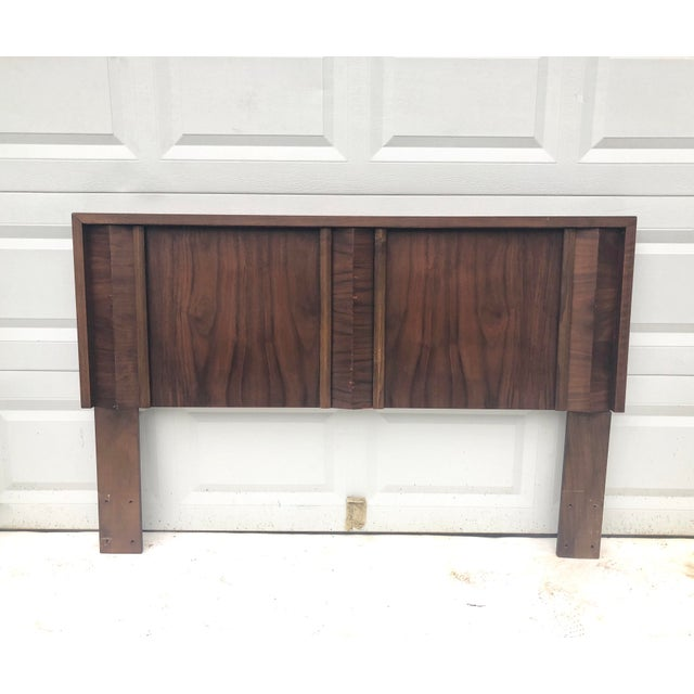Veneer Mid-Century Modern Queen Size Bed Headboard For Sale - Image 7 of 7