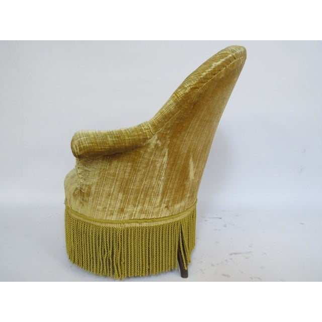 1940's light Gold Slipper Chair - Image 5 of 6