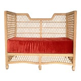 Image of Vintage High Back Settee For Sale