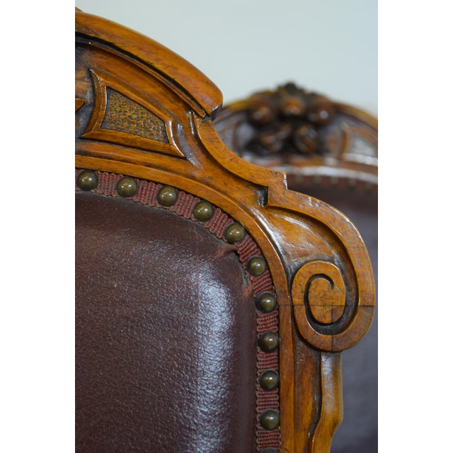 Mid 19th-Century Walnut Dining Chairs-Set of Six (6) For Sale - Image 10 of 12