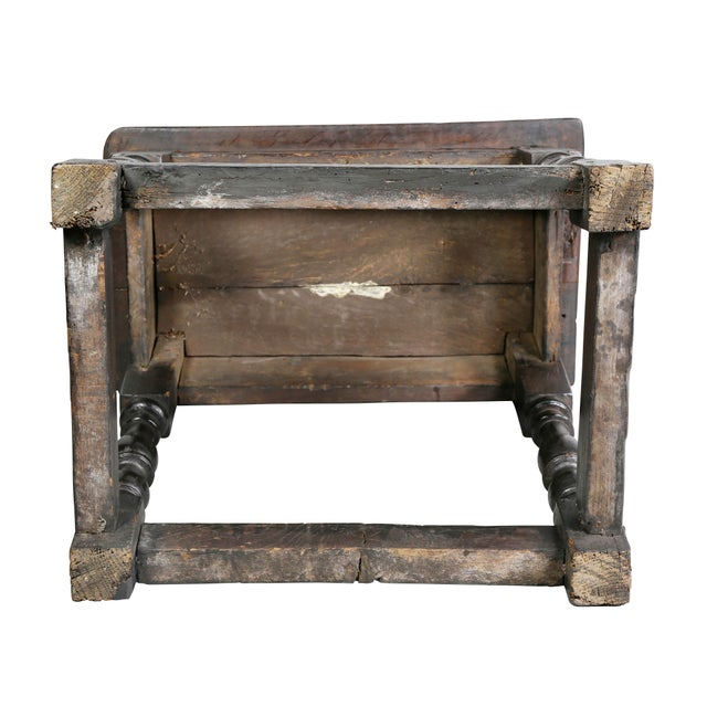 Jacobean Oak Joint Stool For Sale - Image 9 of 10