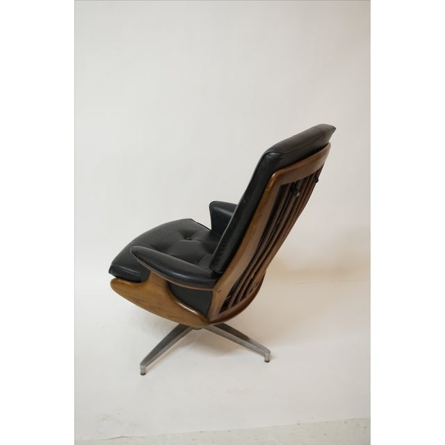 Heywood-Wakefield Lounger & Ottoman - Image 7 of 7