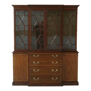 Henkel Harris Model 2365 Mahogany London Breakfront For Sale