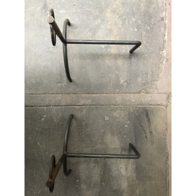 French Modernist Andirons - A Pair - Image 4 of 5