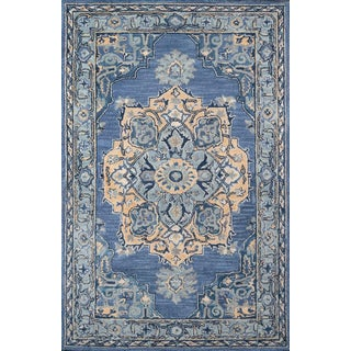 Ibiza Denim Hand Tufted Area Rug 6' X 9' For Sale