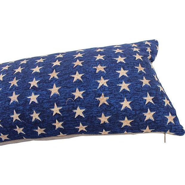 Folk Art Americana Stars Pillows - Pair - Image 4 of 5