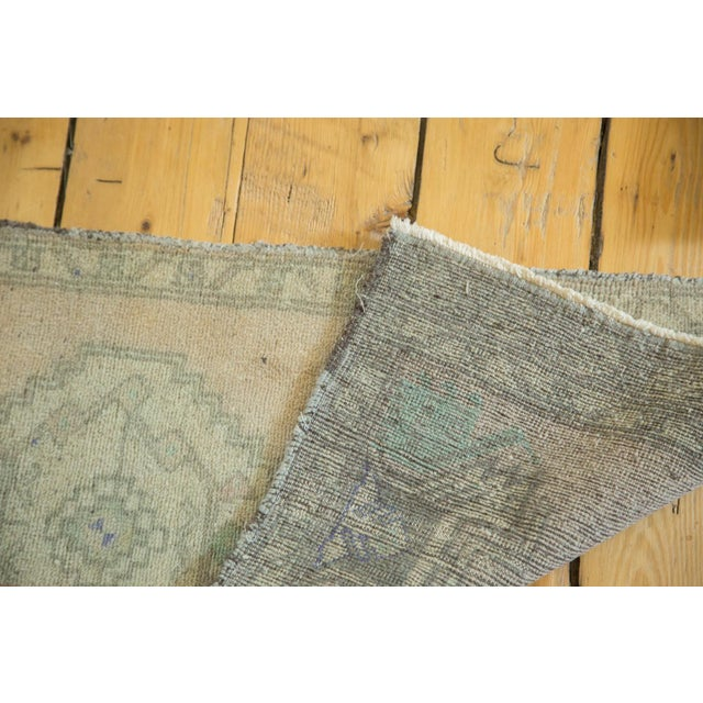 Vintage Distressed Oushak Runner -1′7″ × 3′7″ For Sale - Image 5 of 5