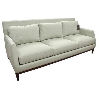 New Mid-Century Modern Style Robert Allen Hand-Built Custom Pale Green Sofa For Sale