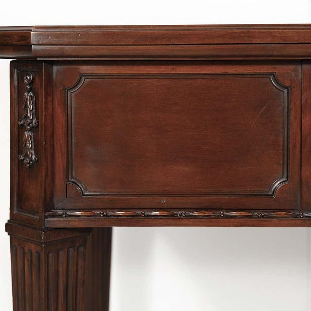 19th Century French Louis XVI Style Walnut Bureau Plat or Desk With Leather Top For Sale - Image 10 of 13