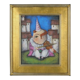 """""""Pepe"""", Original Oil Painting in Gold Frame For Sale"""