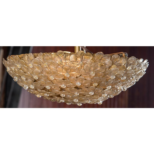 Italian Barovier & Toso Murano Glass Surface Mount Ceiling Chandelier/Light For Sale In New York - Image 6 of 11
