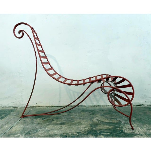Iron Spine Chair Attributed to Andre Dubreuil For Sale - Image 10 of 11