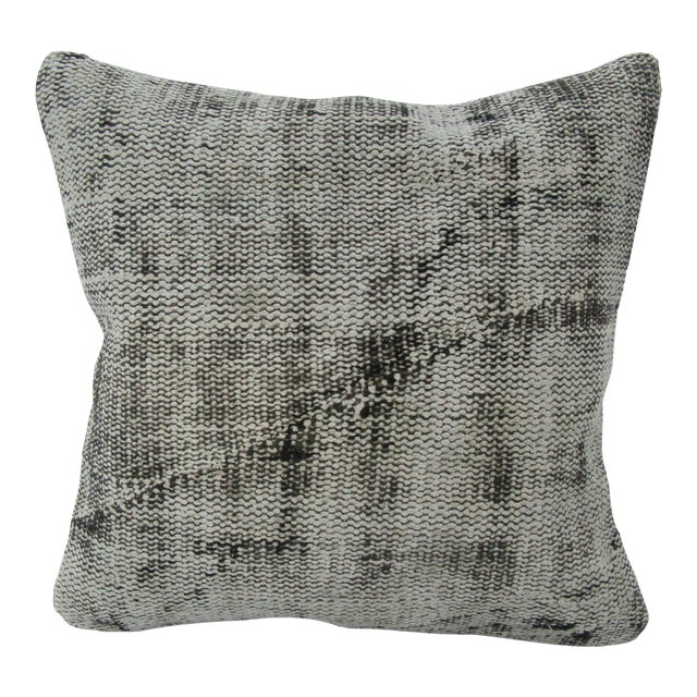 Turkish Gray Overdyed Vintage Pillow Cover For Sale