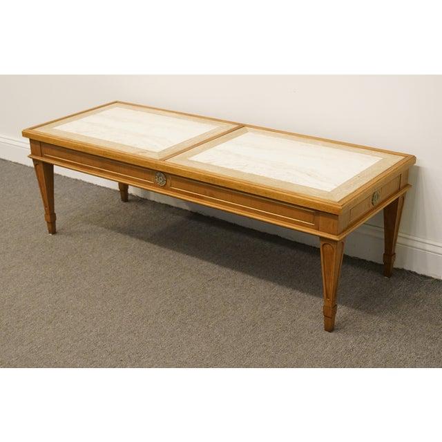 20th Century Italian Hekman Furniture Marble Top Coffee Table Chairish