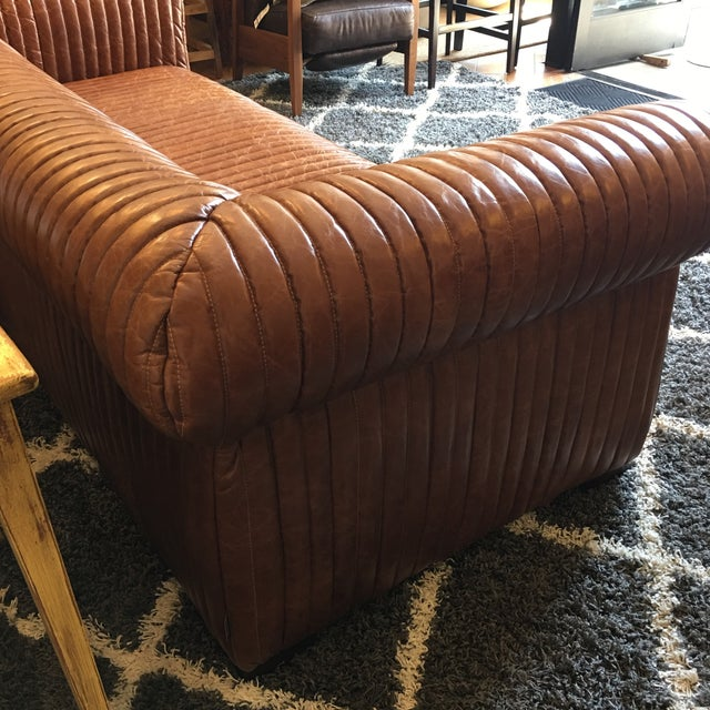 New Artsome Logan Sofa in Cognac Color Leather For Sale In San Francisco - Image 6 of 11