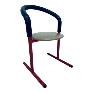 Postmodern Amisco Chair or Stool With Foam Back For Sale