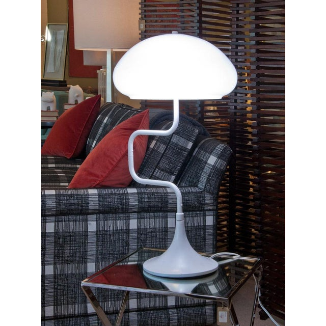 Mid-Century White Swivel Lamp For Sale In Seattle - Image 6 of 6
