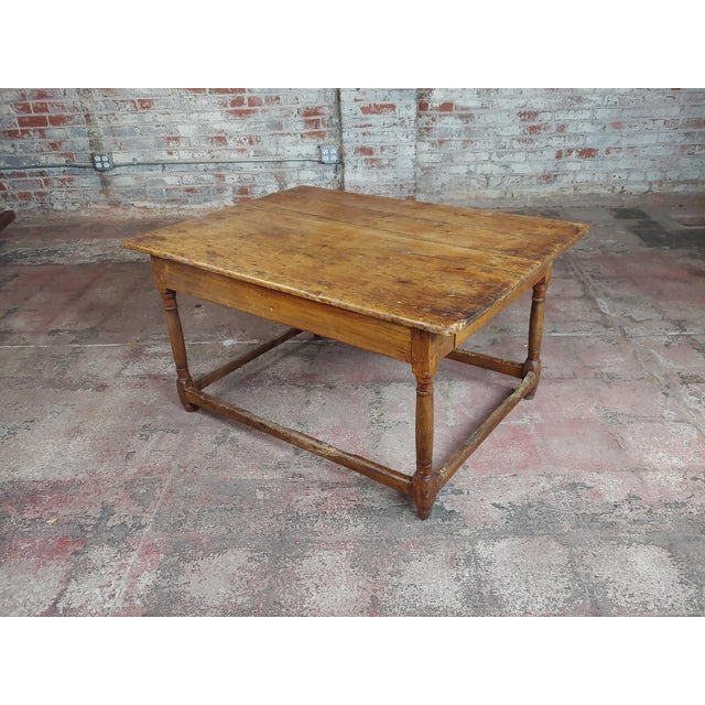 19th Century English Walnut Farm Coffee Table For Sale - Image 10 of 10