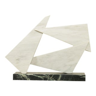 Richard H. Bailey Geometric Marble Sculpture For Sale