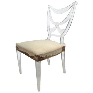 Rare Lucite Chair by Lorin Jackson for Grosfeld House Art Deco Circa 1939 For Sale