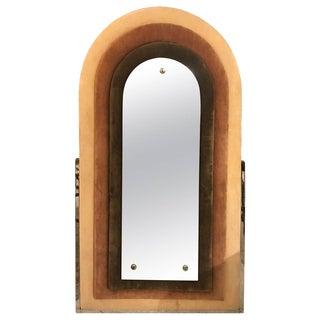 1970s Mid-Century Upholstered Mirror