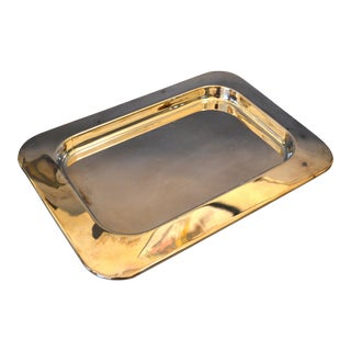 Vintage Silver Plated Serving Tray by Alessi Brazil For Sale