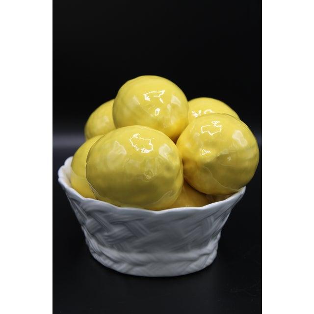 Italian Ceramic Lemon Basket For Sale - Image 6 of 9