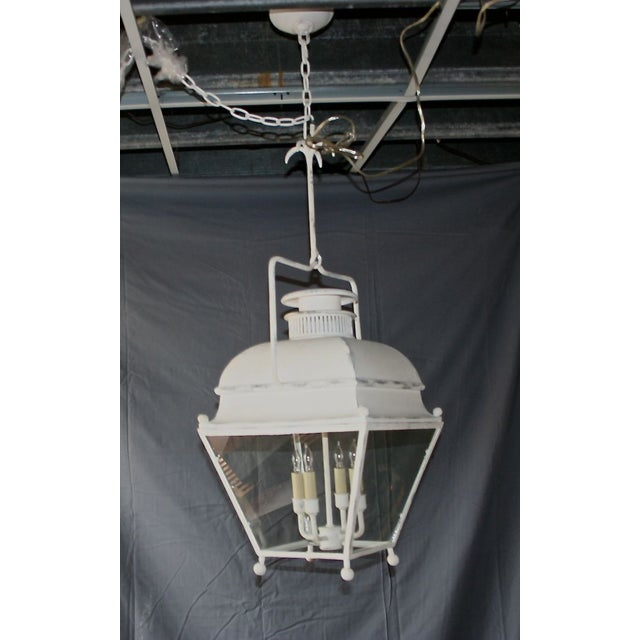 Large White Colonial Lantern - Image 4 of 7