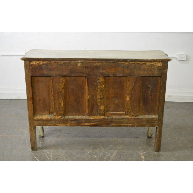 Antique 18th Century French Louis XV Style Painted 2 Door Console Server For Sale - Image 4 of 10