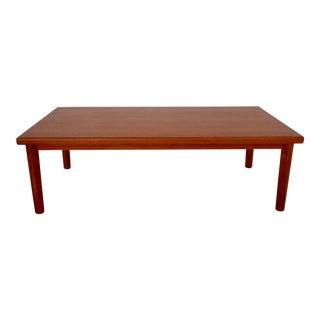 1960's Vintage Danish Modern Vejle Stole Teak Coffee Table For Sale