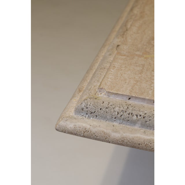 Modern Travertine Coffee Table For Sale - Image 4 of 6