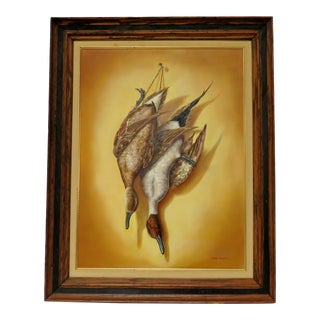 Marie Conway Oil Painting of Ducks, Framed For Sale