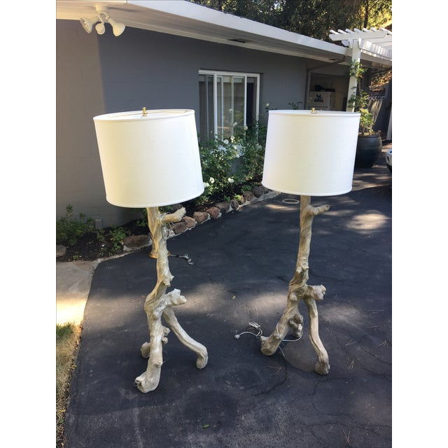 Oly Studio Vicente Resin Floor Lamps - A Pair - Image 2 of 6