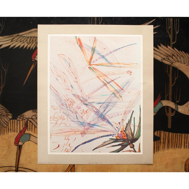 XL 1954 Dali, Dragonflies Original Period Lithograph From From the Mrs. Albert D. Lasker Collection For Sale - Image 11 of 13