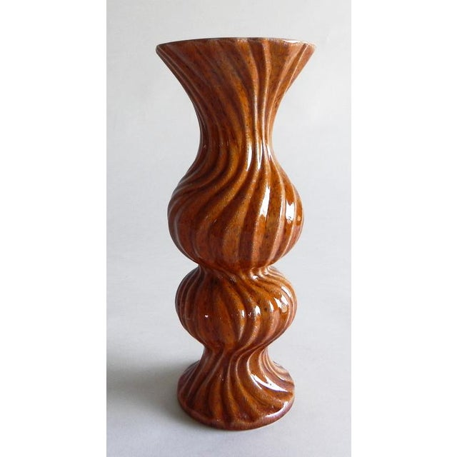 2010s Mandarin Twisted Vase For Sale - Image 5 of 7