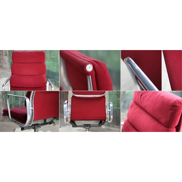 Metal 1980s Eames Herman Miller Aluminum Soft Pad Reclining Executive Office Chair For Sale - Image 7 of 13