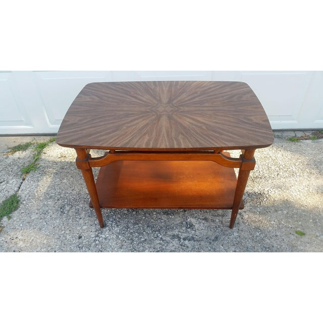 Lane Furniture Mid-Century Lane Side Table W/ Laminated Pattern For Sale - Image 4 of 6
