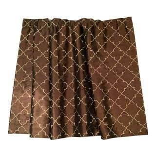 Bronze and Gold Window Treatment For Sale