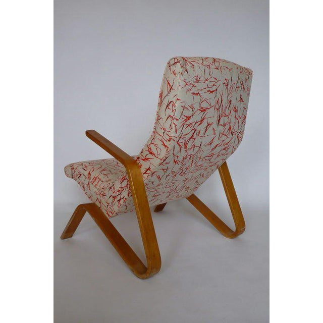 Eero Saarinen for Knoll Grasshopper with rare new vintage Knoll fabric.