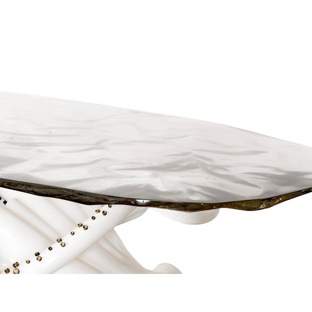This imaginative sculptural Octopus Console Table is a limited edition of 4 designed by Sylvan S.F. The exquisite life-...