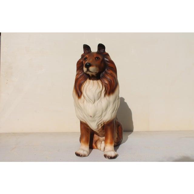 Mid-Century Glazed Ceramic Dog Sculpture For Sale - Image 12 of 12